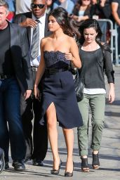 Selena Gomez Arriving to Appear on Jimmy Kimmel Live in Hollywood - October 2014