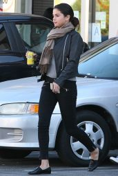 Selena Gomez in Biker Jacket - Out for lunch in Studio City - Oct. 2014