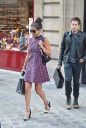 Selena Gomez Leggy - Out in Paris - September 2014