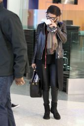 Selena Gomez Street Style - at LAX Airport - October 2014