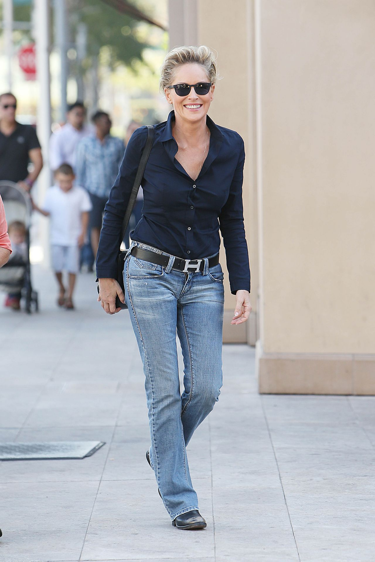 Sharon Stone Street Style Out In Beverly Hills October