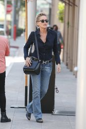 Sharon Stone Street Style - Out in Beverly Hills - October 2014