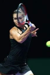 Simona Halep – 2014 WTA Finals in Singapore (vs Eugenie Bouchard)