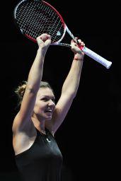 Simona Halep – 2014 WTA Finals in Singapore (vs Serena Williams)