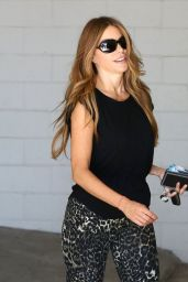 Sofia Vergara Booty in Tights at a Gym in Beverly Hills - October 2014