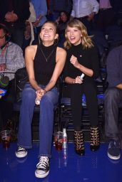 Taylor Swift and Karlie Kloss at the New York Knicks Game - October 2014