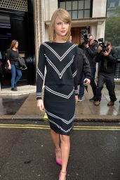 Taylor Swift at Absolute Radio & BBC Radio 2 Studios in London - October 2014