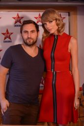 Taylor Swift at Virgin Radio Studio in Paris - October 2014