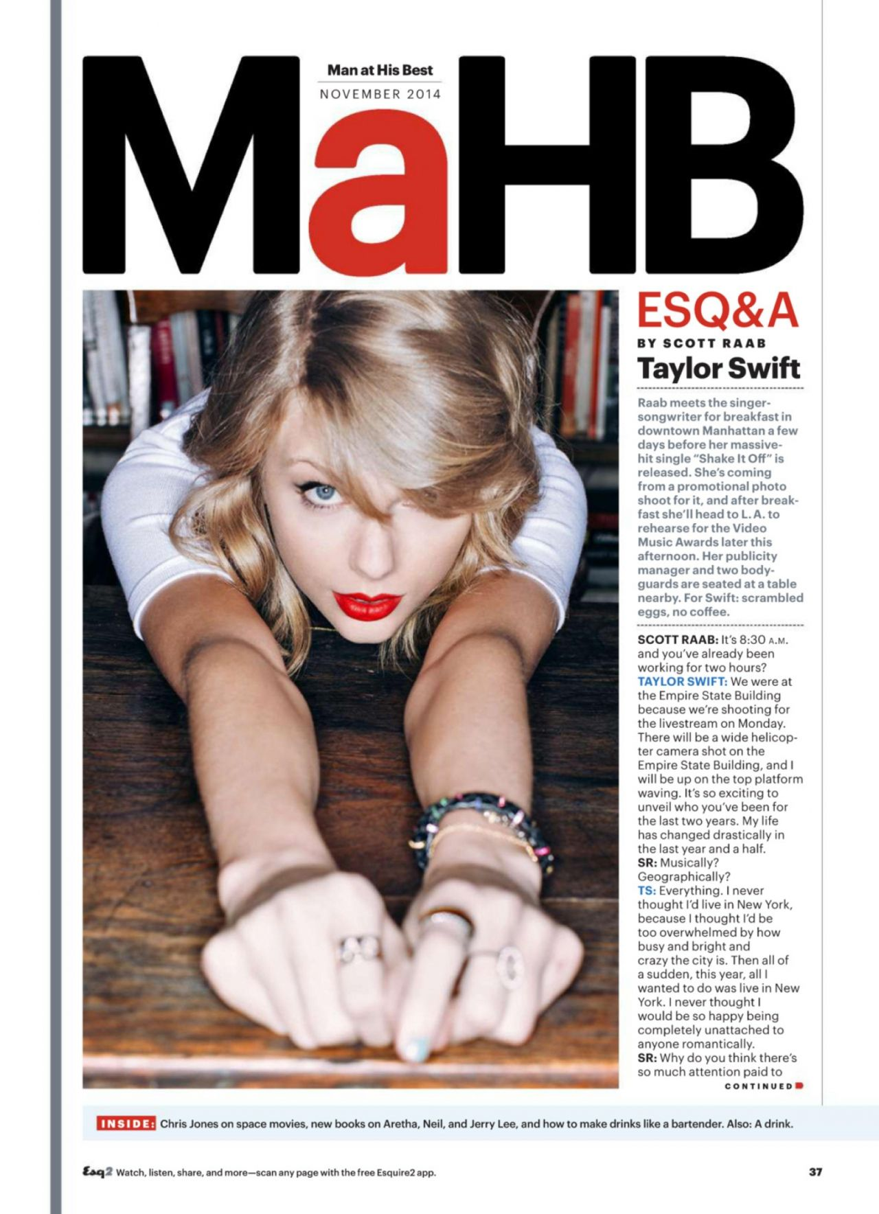 Taylor Swift - Esquire Magazine (US) - November 2014 Issue