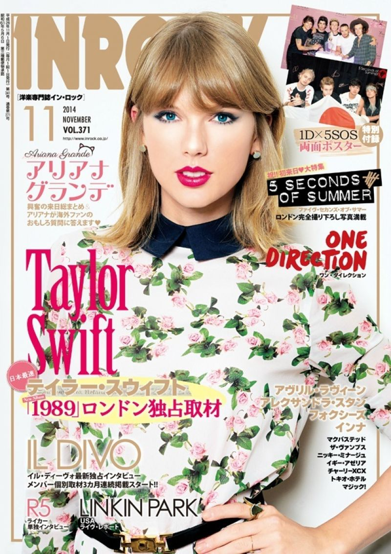 Taylor Swift - InRock Magazine (Japan) - November 2014 Cover