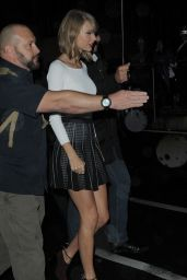 Taylor Swift - Leaving NRJ Radio in Paris, October 2014
