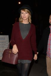 Taylor Swift Style - Outside the Saatchi Gallery in Chelsea, London - October 2014