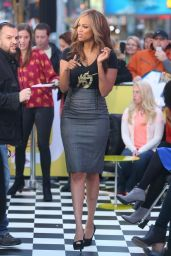 Tyra Banks on the Set of