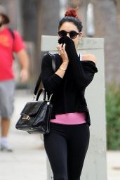 Vanessa Hudgens & Ashley Tisdale in Leggings - Leaving Pilates Class, October 2014