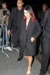Vanessa Hudgens Rocking Her New Red Hair - Leaving D8 Studios in Paris - October 2014