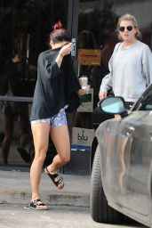 Vanessa Hudgens Shows Off Legs in Shorts - Out in Los Angeles, October 2014