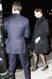 Anne Hathaway Style - at Friends Wedding in Brooklyn - November 2014