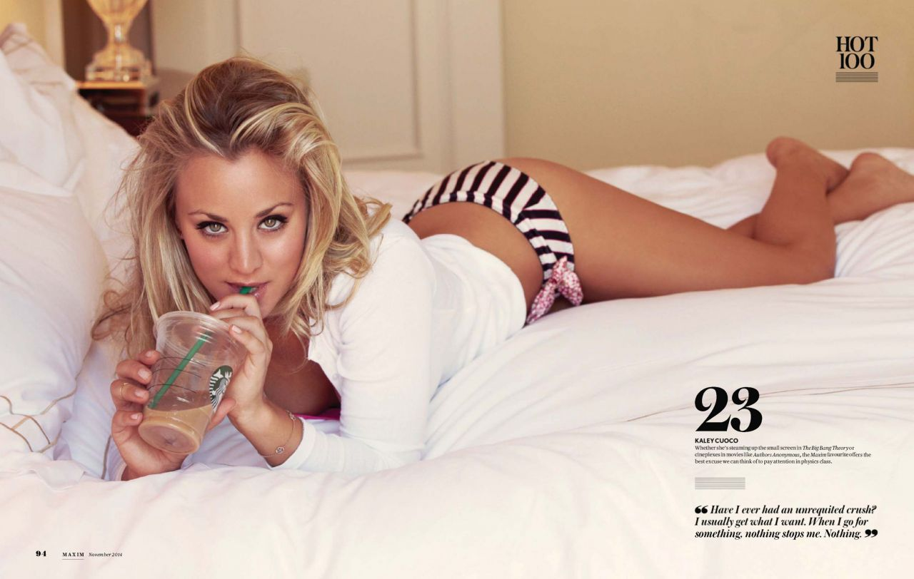 Kaley Cuoco Bikini Photo – Maxim Magazine (India) November 2014 Issue