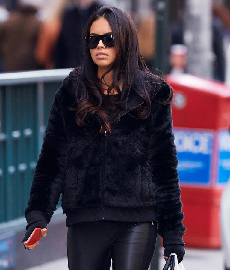 Adriana Lima Street Fashion Leaves Duane Reade