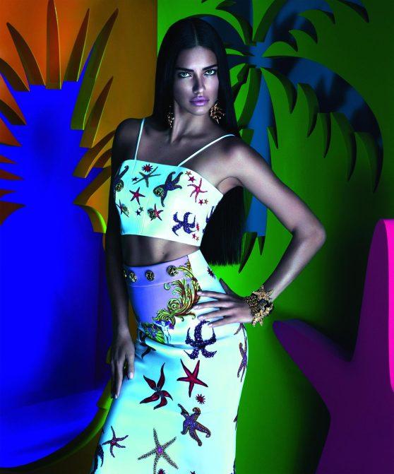 Adriana Lima Photoshoot - Mert Alas & Marcus Piggott Versace for Riachuelo