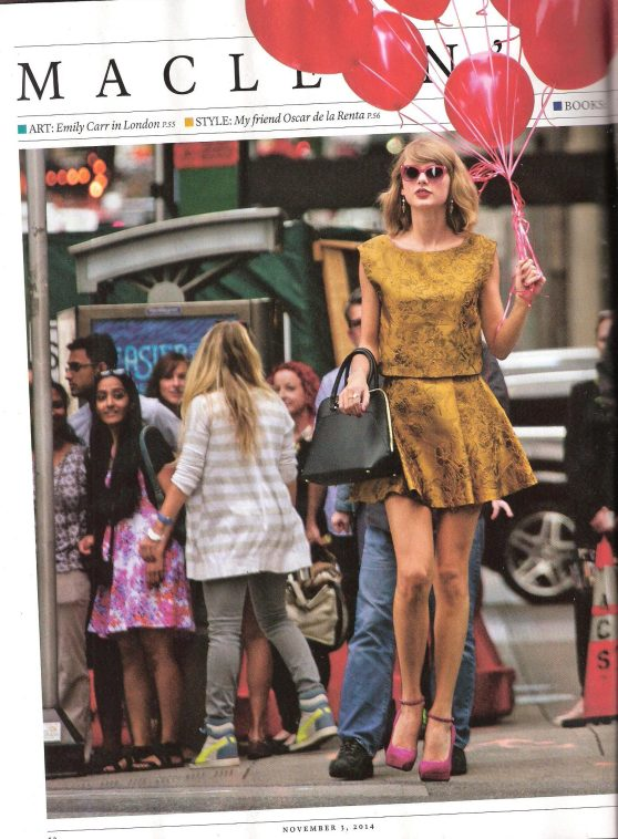 Taylor Swift - MacLean's Magazine, November 3, 2014