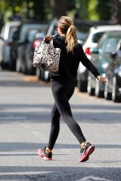 Abbey Clancy in Leggings - House Hunting Candids - Sept. 2014