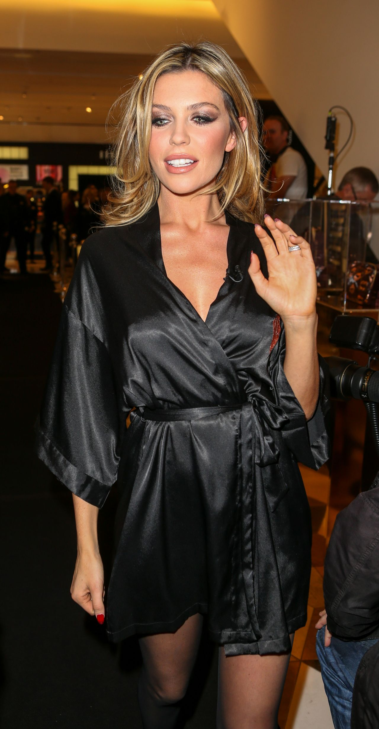 Abbey Clancy Style At The Selfridges Store In Manchester