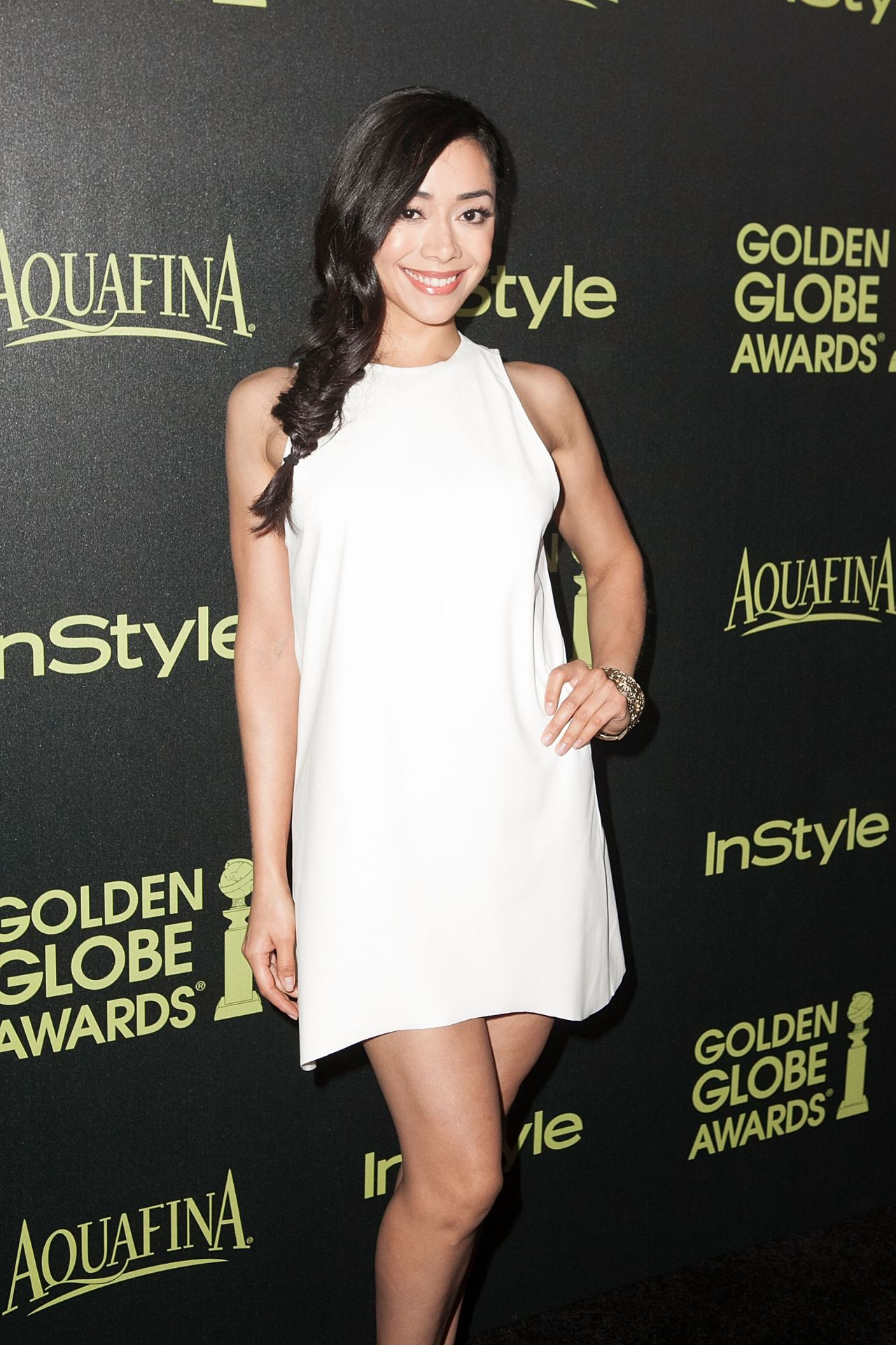 Aimee Garcia – HFPA & InStyle Celebrate 2015 Golden Globe Award Season in West Hollywood