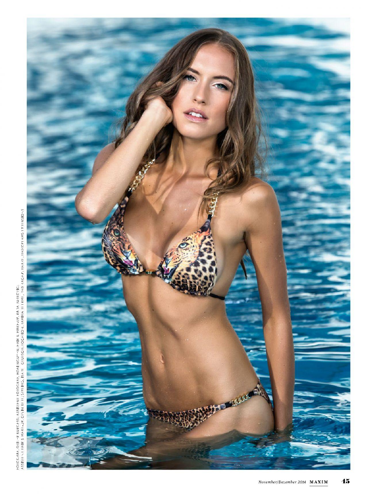 Alena Gerber - Maxim Magazine (Switzerland) November/December 2014 Issue