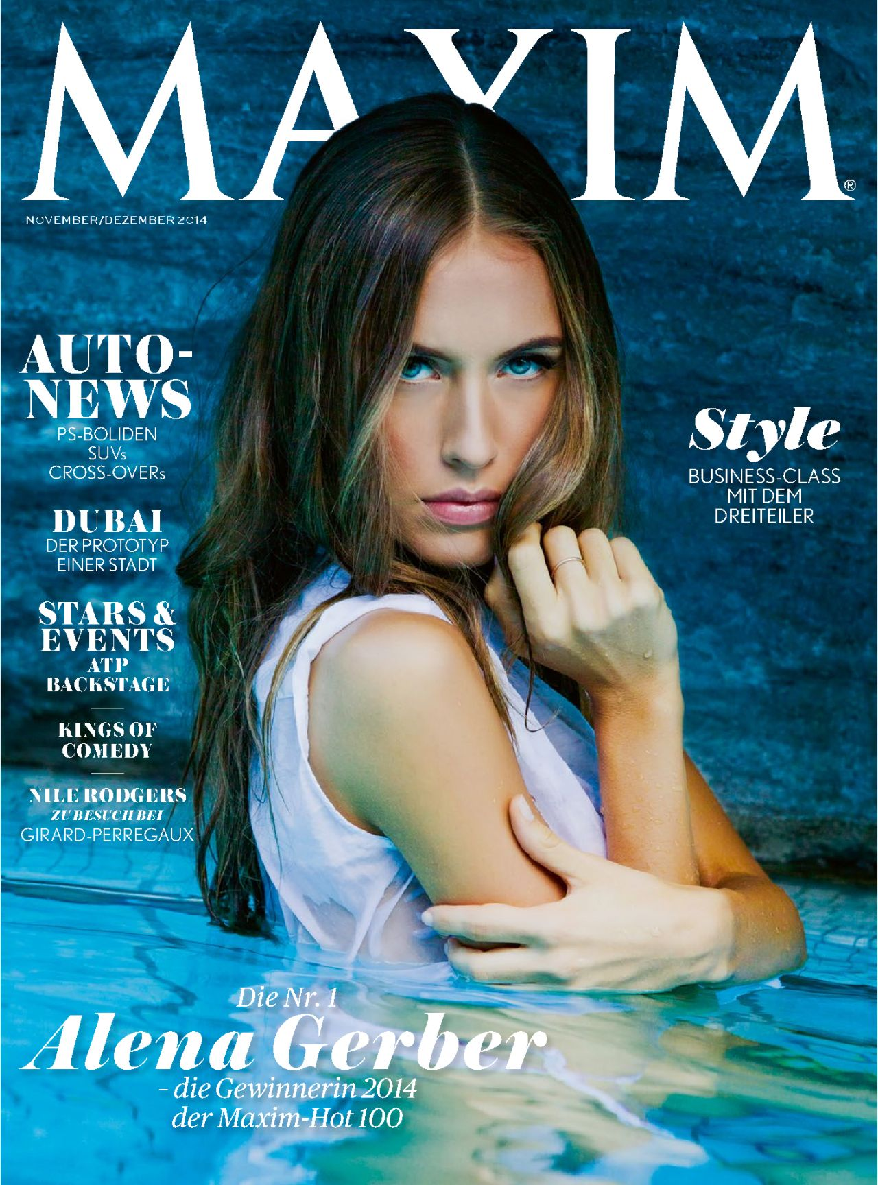 Alena Gerber – Maxim Magazine (Switzerland) November/December 2014 Issue