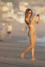Alessandra Ambrosio Bikini Photos - Beach in Malibu, November 2014