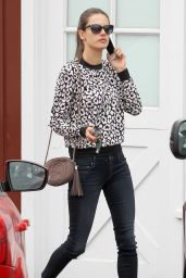 Alessandra Ambrosio Casual Fashion - Out in Brentwood. Oct. 2014