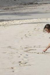 Alessandra Ambrosio in a Bikini - Relaxing on the Beach in St Barts - November 2014