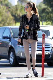 Alessandra Ambrosio in Grey Spandex - Out in Los Angeles, Nov 2014