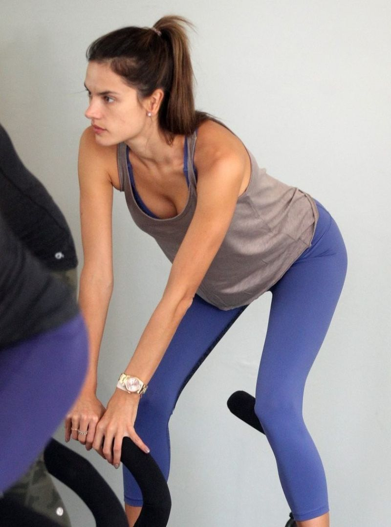 Alessandra Ambrosio in Leggings - at a Gym in Los Angeles - November 2014