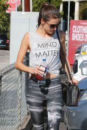 Alessandra Ambrosio in Leggings - at the Gym in Los Angeles, November 2014
