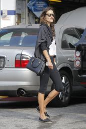 Alessandra Ambrosio in Tight Spandex  - Out in Los Angeles, November 2014