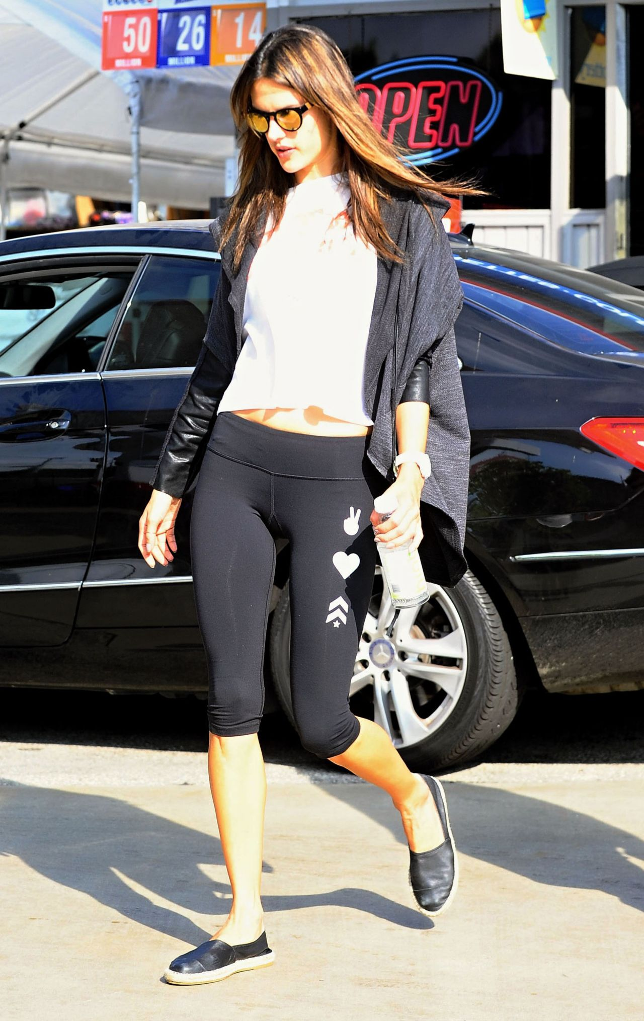 Alessandra Ambrosio In Tight Spandex Out In Los Angeles
