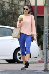 Alessandra Ambrosio - Sipping a Smoothie as She Leaves a Cycling Class in Brentwood