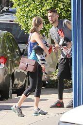 Amanda Seyfried in Leggings - Leaving the gym in Beverly Hills - Nov. 2014