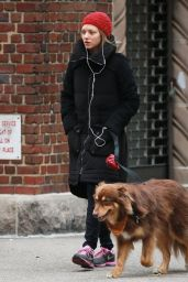 Amanda Seyfried With Her Dog Finn - Out in New York City - November 2014
