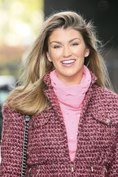 Amy Willerton Fashion - Leaving the ITV Studios in London - November 2014