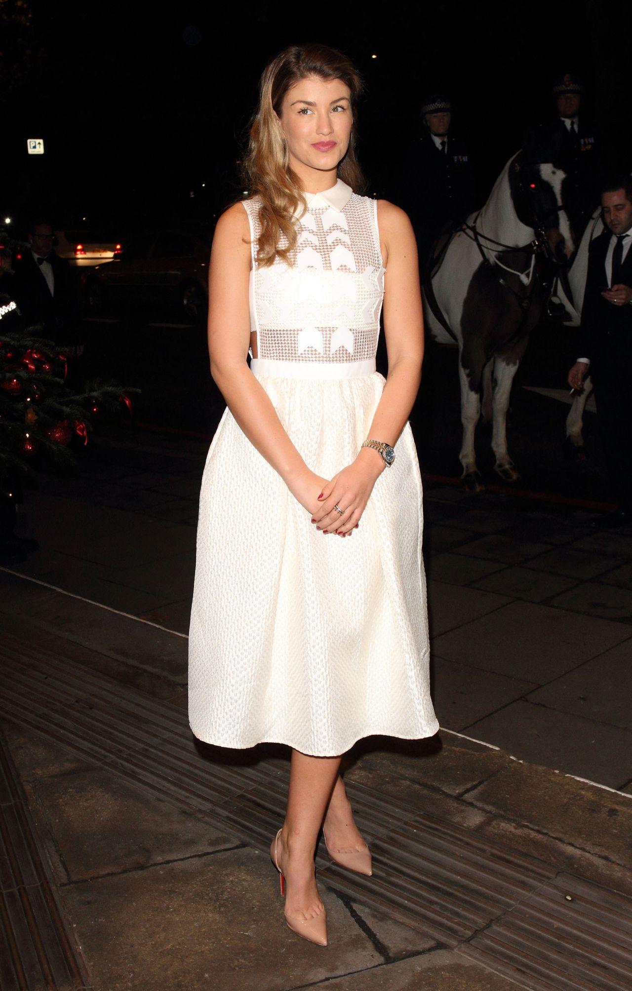 Amy Willerton in White Dress - Daily Mirror & RSPCA Animal Hero 2014 Awards in London