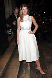 Amy Willerton in White Dress - Daily Mirror & RSPCA Animal Hero 2014 Awards in London