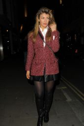 Amy Willerton Night Out Style - at Bootea Party in Soho London - November 2014