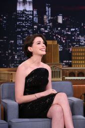 Anne Hathaway at Tonight Show Starring Jimmy Fallon in Hollywood - November 2014