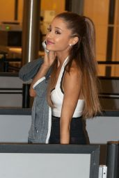 Ariana Grande Style - at JFK Airport in New Yok City - November 2014