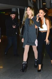 Ariana Grande Style - at JFK Airport in New Yok City - November 2014