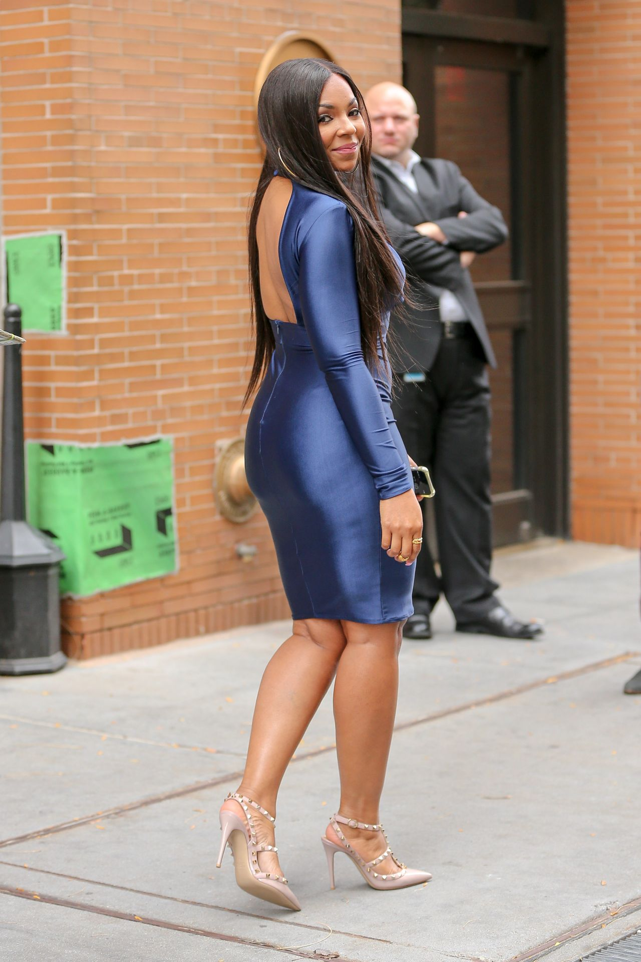 Ashanti In Clingy Wet Look Dress After Co Hosting The
