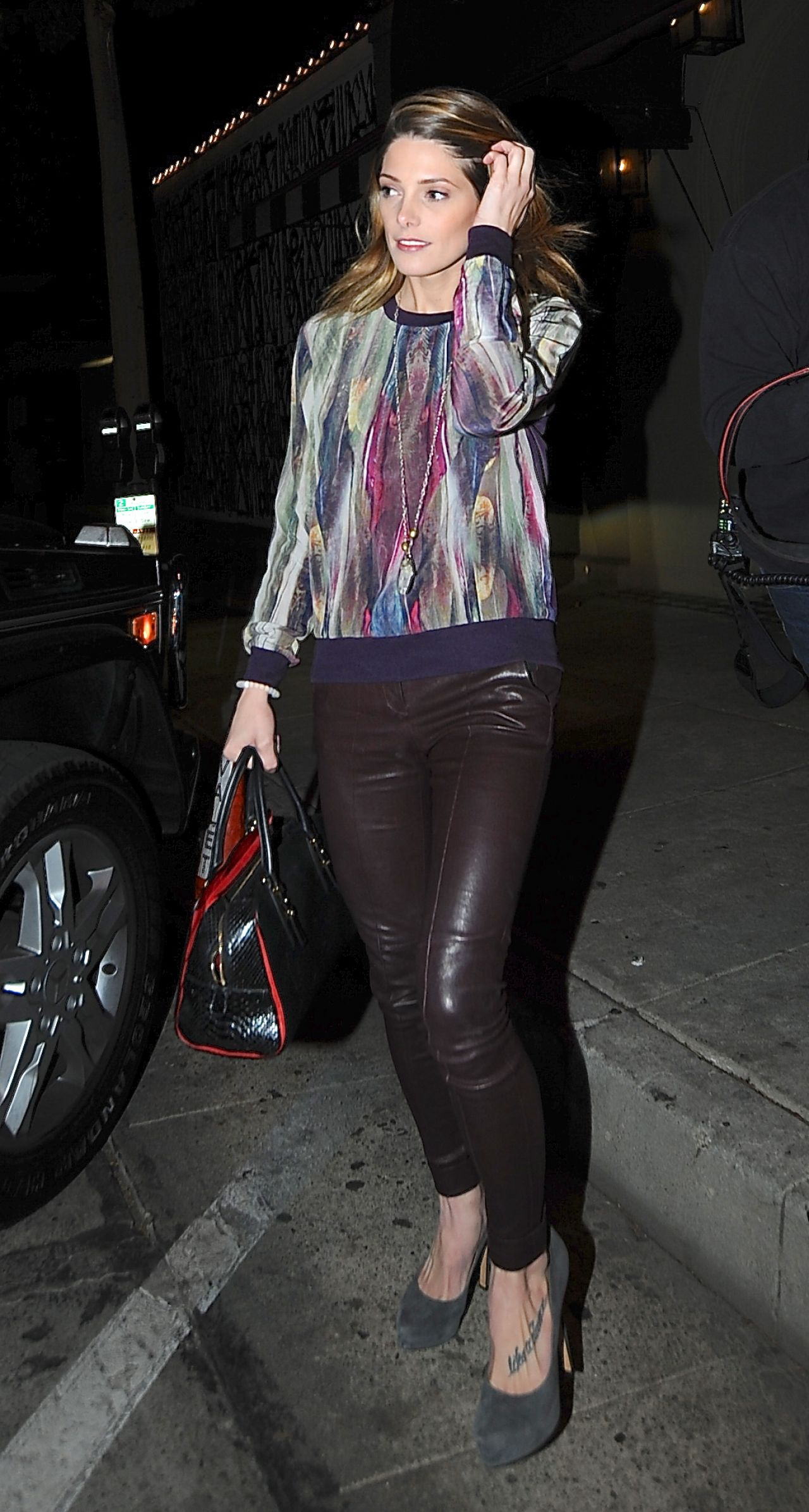 Ashley Greene Night Out Style - at Craig